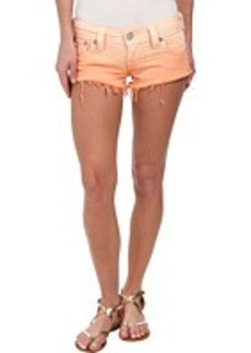True Religion Joey Cut Off Ombre Shorts in Orange