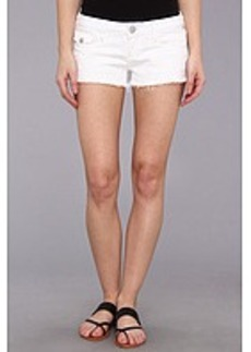True Religion Joey Low-Rise Cut-Off Short in Optic White
