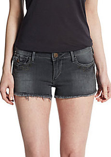 True Religion Joey Studded Cut-Off Shorts