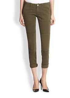 True Religion Joyce Cropped Skinny Cargo Pants