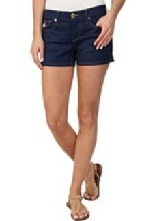 True Religion Keira Low Rise Sanded Cobalt Shorts
