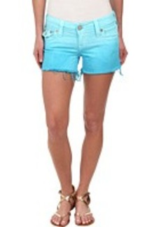 True Religion Kiera Ombre Shorts in Turquoise
