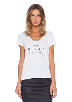 True Religion Relaxed V Neck Tee