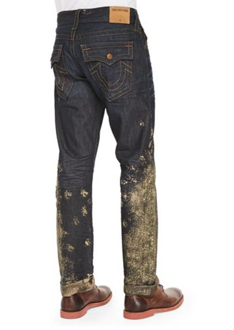 true religion true religion ricky mud splash jeans dark. Black Bedroom Furniture Sets. Home Design Ideas
