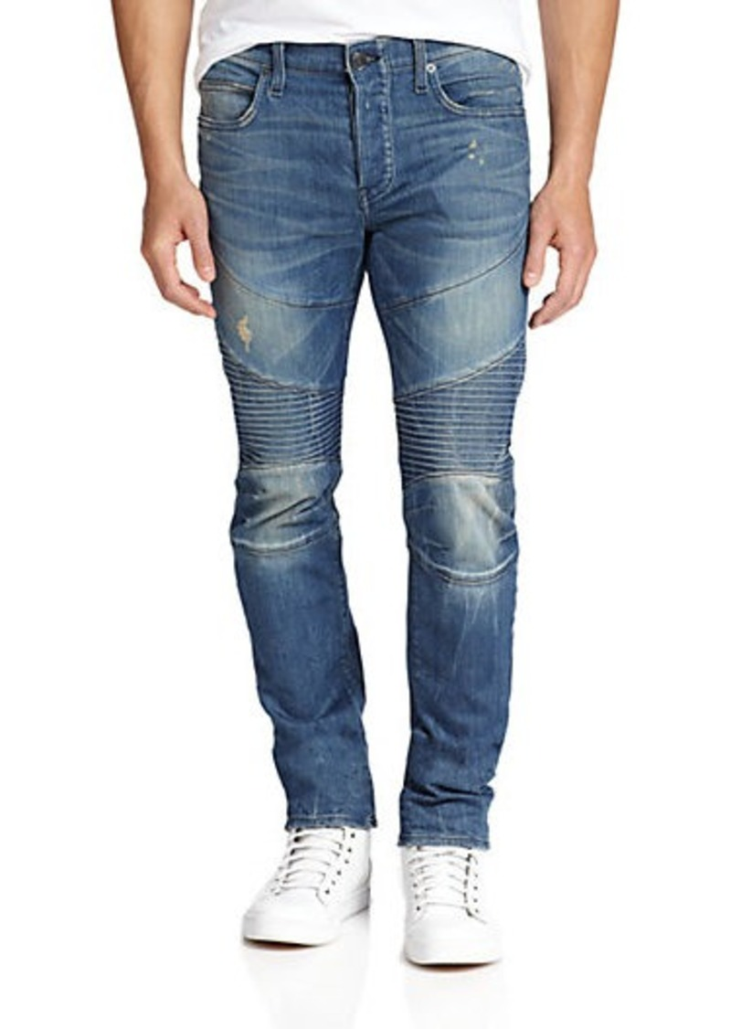 true religion true religion rocco distressed moto jeans. Black Bedroom Furniture Sets. Home Design Ideas