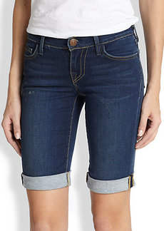 True Religion Savannah Stretch Denim Shorts