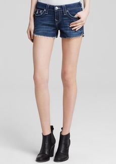 True Religion Shorts - Joey Low Rise Cutoff in Houston Wash