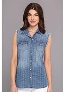 True Religion Sleeveless New Georgia Woven Shirt