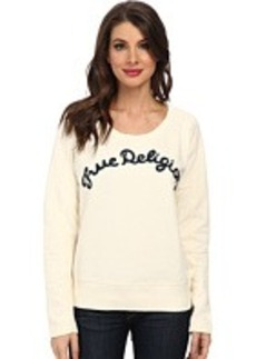 True Religion TR Chainstitch Embroidered Sweatshirt