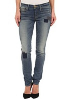 True Religion Victoria Mid Rise Skinny with Patchwork in Beaten Trail