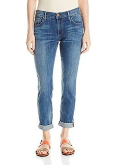 True Religion Women's Audrey Mid Rise Slim Boyfriend Rolled Jean In Spring Ink