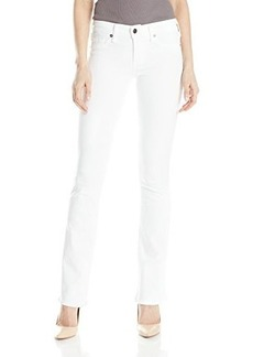True Religion Women's Becca Mid Rise Bootcut Jean In Optic White
