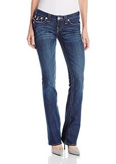 True Religion Women's Becky Mid Rise Boot Cut Jean