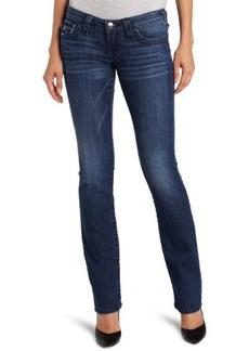 True Religion Women's Billy Straight Leg Jean in Del Mar Medium