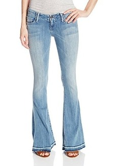 True Religion Women's Charlie Petite Flare Jean In Clear Horizon