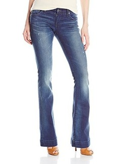 True Religion Women's Charlize Mid Rise 35 Inch Jean In Inky Sea