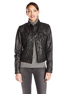 True Religion Women's Dusty Western Fitted Jacket in Leather