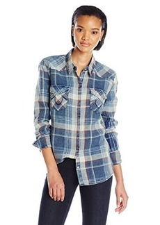 True Religion Women's Georgia Long Sleeve Western Shirt In Plaid