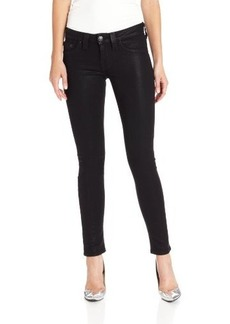 True Religion Women's Halle High Rise Coated Super Skinny Jean in Black
