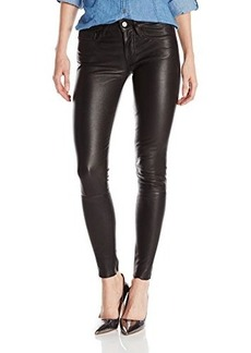 True Religion Women's Halle Mid Rise Super Skinny Leather Pant