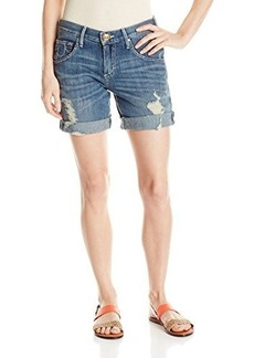 True Religion Women's Miles Relaxed Rolled Bermuda Short