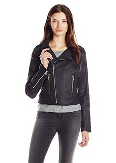 True Religion Women's Moto Coated Jacket