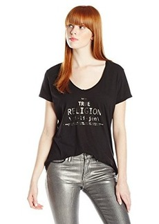 True Religion Women's Relaxed V-Neck Tee