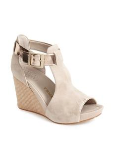 Tsubo 'Nancie' Peep Toe Wedge Suede Sandal (Women)