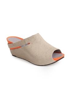 Tsubo 'Ovid' Stingray Embossed Wedge Sandal (Women)
