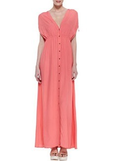 12th Street by Cynthia Vincent Button-Front Empire Maxi Dress
