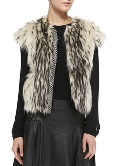 12th Street by Cynthia Vincent Chainmail-Detail Faux-Fur Vest