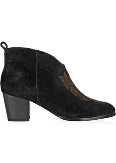 12th Street by Cynthia Vincent Charley printed suede ankle boots