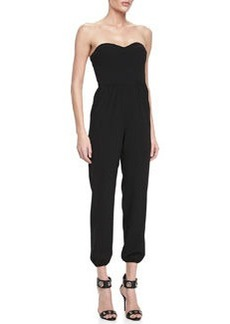12th Street by Cynthia Vincent Corset Sweetheart-Neck Sleeveless Jumpsuit