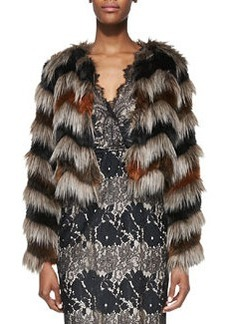12th Street by Cynthia Vincent Faux-Fur Long-Sleeve Chubby Jacket