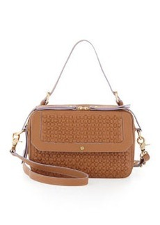 12th Street by Cynthia Vincent Leila Woven Double-Zip Crossbody Bag, Tobacco