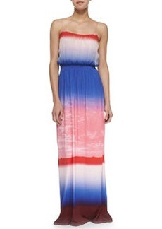 12th Street by Cynthia Vincent Ombre Silk & Jersey Maxi Dress