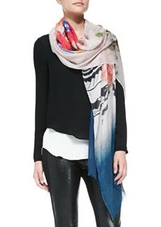 12th Street by Cynthia Vincent Portrait & Floral-Print Scarf