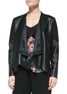 12th Street by Cynthia Vincent Scuba-Inset Lambskin Jacket