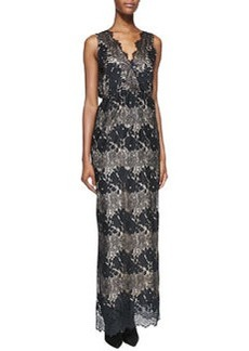 12th Street by Cynthia Vincent Sleeveless Floral-Lace Maxi Dress