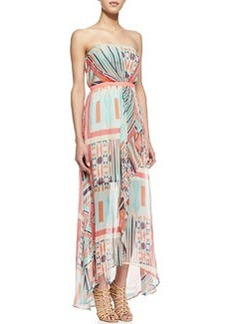 12th Street by Cynthia Vincent Strapless Ruffle Maxi