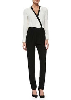 12th Street by Cynthia Vincent Two-Tone Crepe Jumpsuit