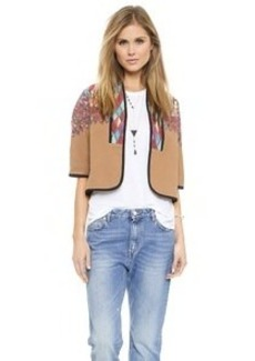 Twelfth St. by Cynthia Vincent Cropped Embroidered Jacket