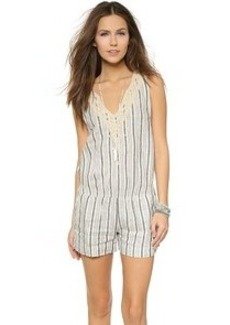 Twelfth St. by Cynthia Vincent Embroidered Stripe Romper