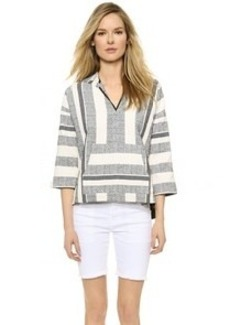 Twelfth St. by Cynthia Vincent Hooded Baja Pullover