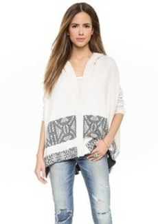 Twelfth St. by Cynthia Vincent Hooded Blanket Sweater