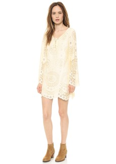 Twelfth St. by Cynthia Vincent Lace up Bell Sleeve Dress