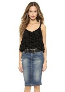Twelfth St. by Cynthia Vincent Leather Strap Cropped Camisole