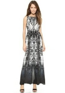 Twelfth St. by Cynthia Vincent Sleeveless Tie Back Maxi Dress