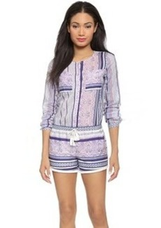 Twelfth St. by Cynthia Vincent Striped Romper