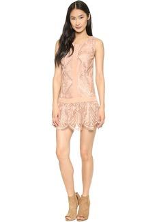 Twelfth St. by Cynthia Vincent T Back Lace Mini Dress